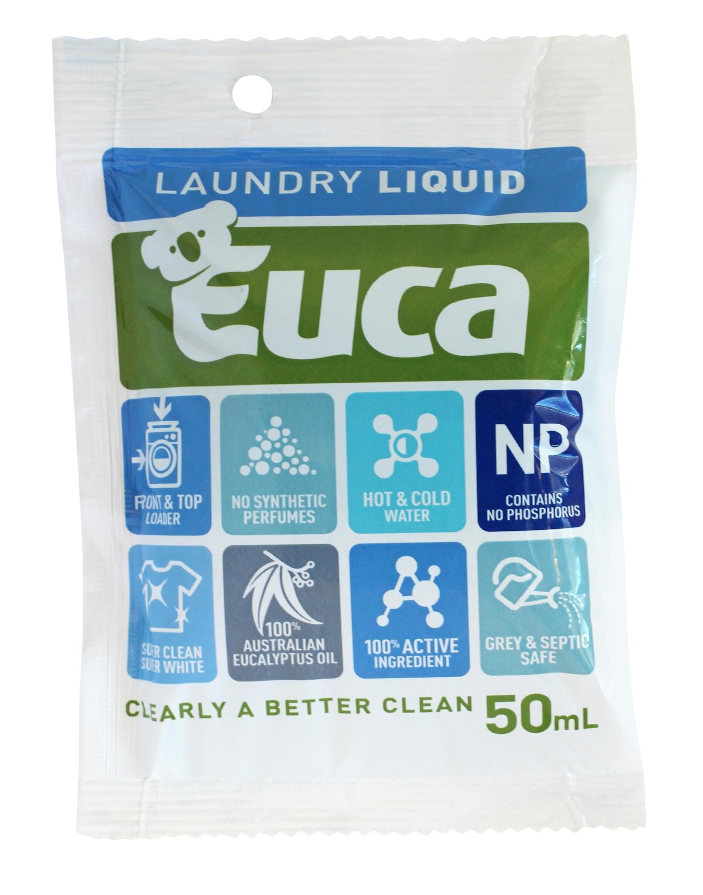 Euca laundry liquid sachet 50ml